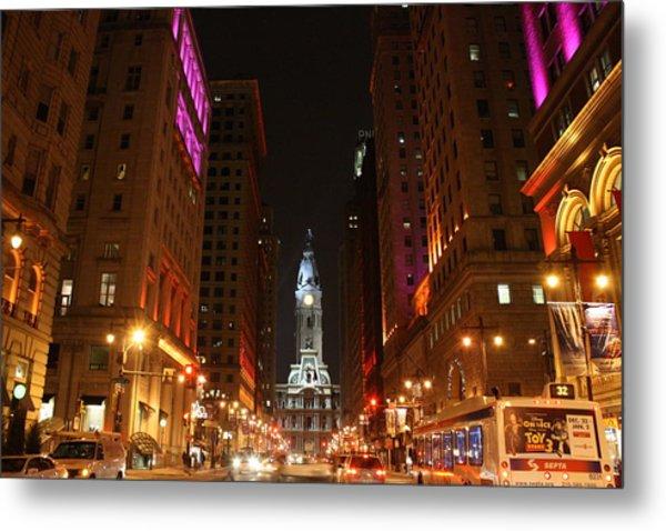 Philadelphia City Lights Metal Print