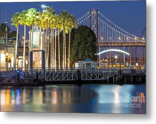 Metal Print featuring the photograph City Lights On Mission Bay by Kate Brown
