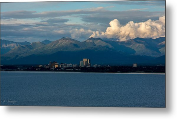 City Of Anchorage  Metal Print