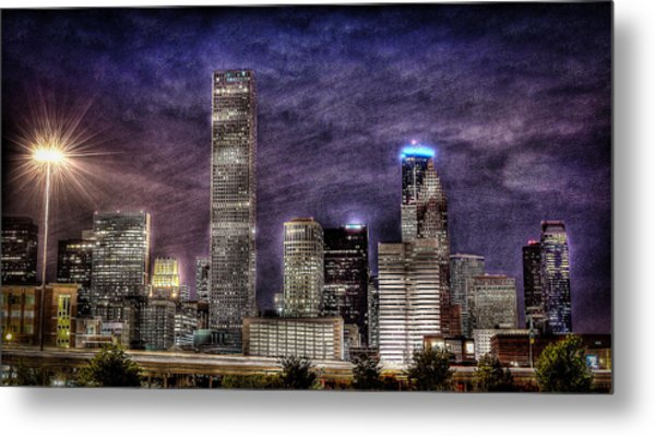 City Of Houston Skyline Metal Print