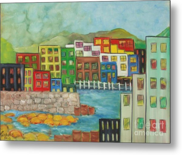 City On The Canal Metal Print