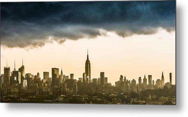 City Storm Metal Print