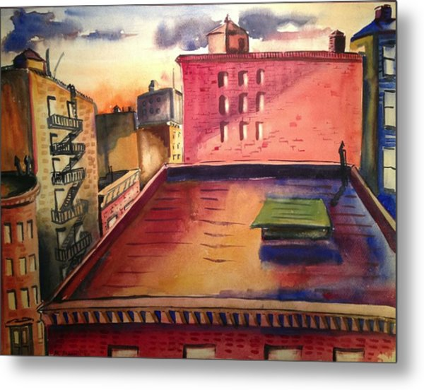 City Sunset Metal Print by Maxwell Mandell