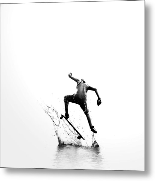 City Surfer Metal Print