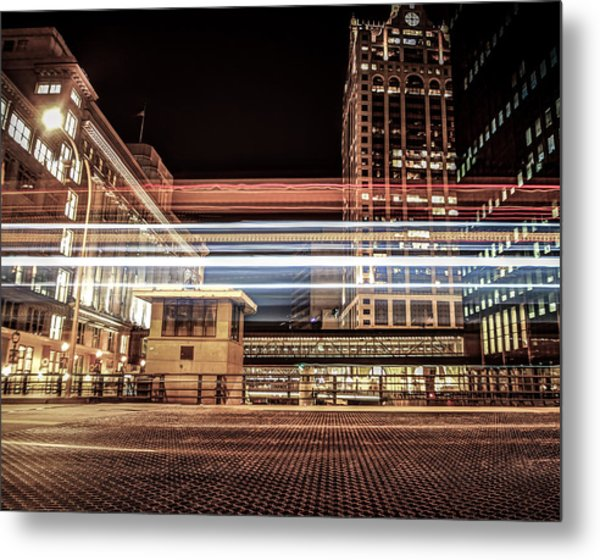 City Traffic Metal Print by Anna-Lee Cappaert