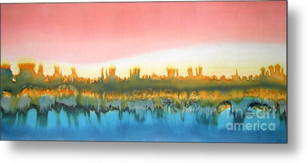 Citylights Metal Print by Addie Hocynec