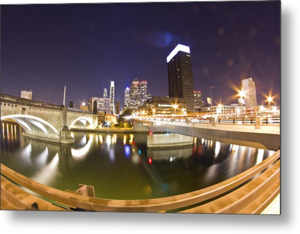 City's Reflection Metal Print
