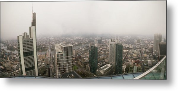 Cityscape Metal Print by Wladimir Bulgar/science Photo Library