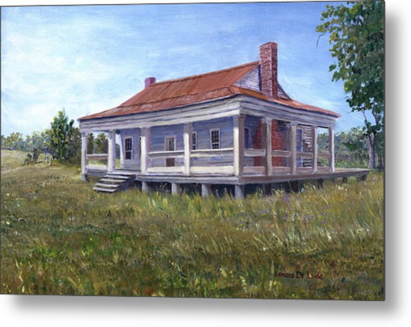 Civil War House Mansfield Louisiana Metal Print
