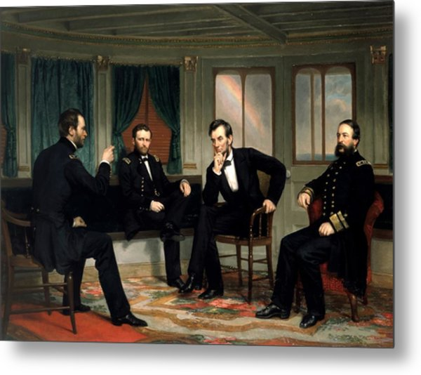 Civil War Union Leaders -- The Peacemakers Metal Print