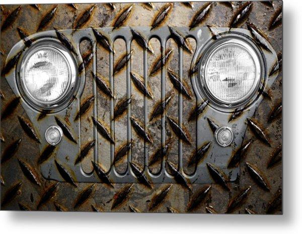 Civilian Jeep- Steel Gray Metal Print