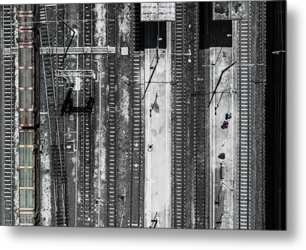 Civitavecchia Train Station Metal Print