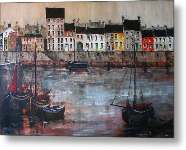 Cladagh Harbour In Galway Metal Print