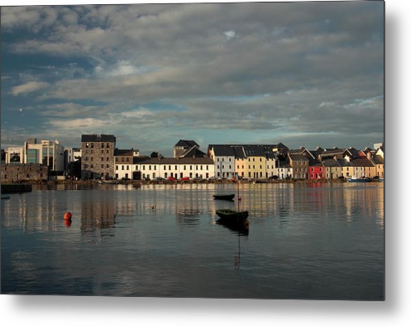 Claddagh  Quays. Metal Print by Peter Skelton