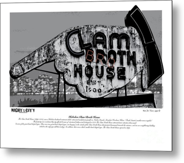 Clam Broth House Sign Metal Print
