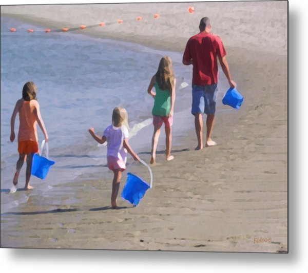 Clamming Metal Print