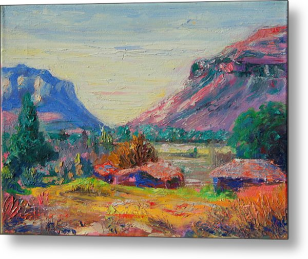 Clarence Mountain Free State South Africa Metal Print