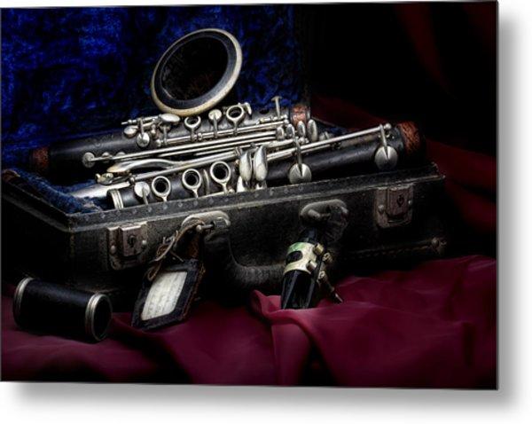 Clarinet Still Life Metal Print