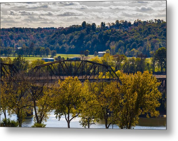 Clarksville Railroad Bridge Metal Print