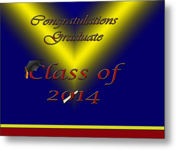 Class Of 2014 Card Metal Print