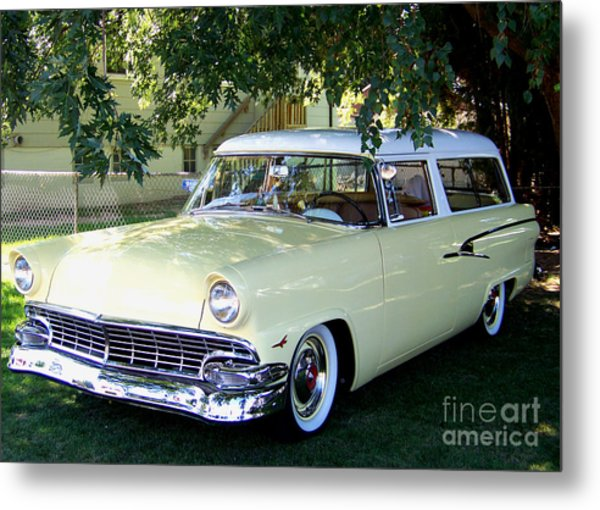 Classic 1956 Ford Ranch Wagon Metal Print