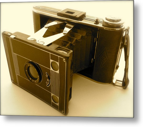 Classic Bellows Folding Camera Metal Print