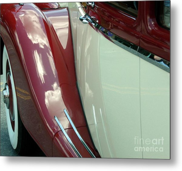 Classic Car Fender Metal Print
