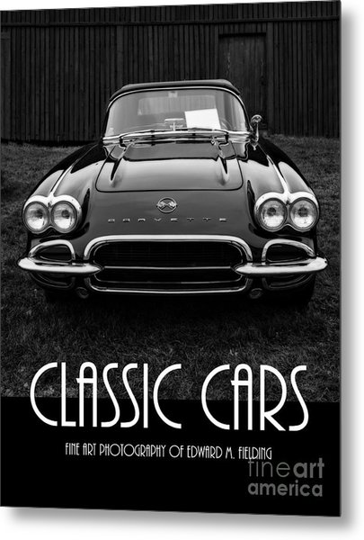 Classic Cars Front Cover Metal Print