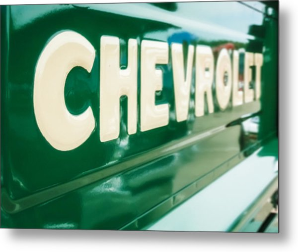 Classic Chevy Truck Tailgate Metal Print