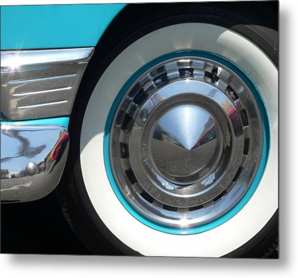 Metal Print featuring the photograph Classic Chevy Wagon by Jeff Lowe