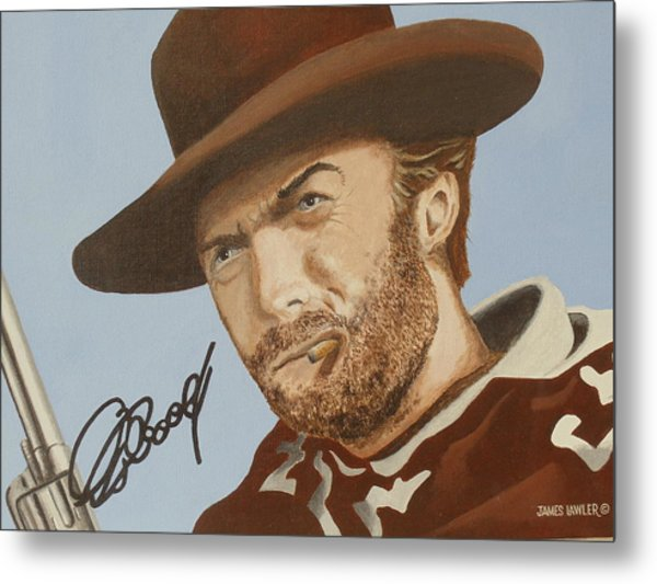 Classic Cool Clint Metal Print by James Lawler