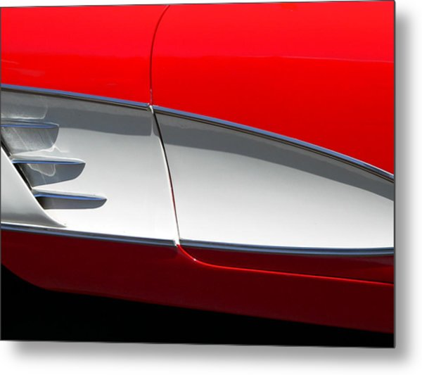 Metal Print featuring the photograph Classic Corvette Art by Jeff Lowe