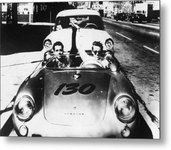 Classic James Dean Porsche Photo Metal Print
