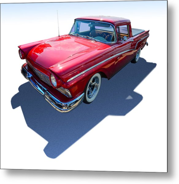 Classic Red Truck Metal Print