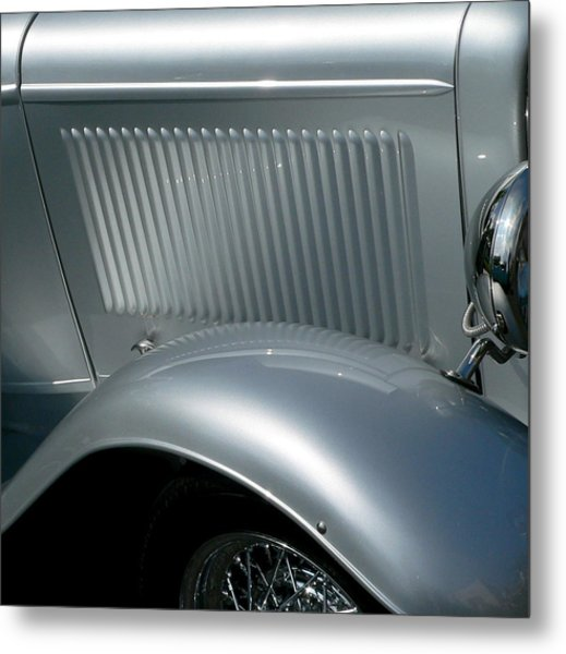 Metal Print featuring the photograph Classic Roadster Silver by Jeff Lowe