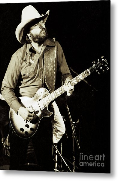 Classic Toy Caldwell Of The Marshall Tucker Band At The Cow Palace-new Years Concert  Metal Print