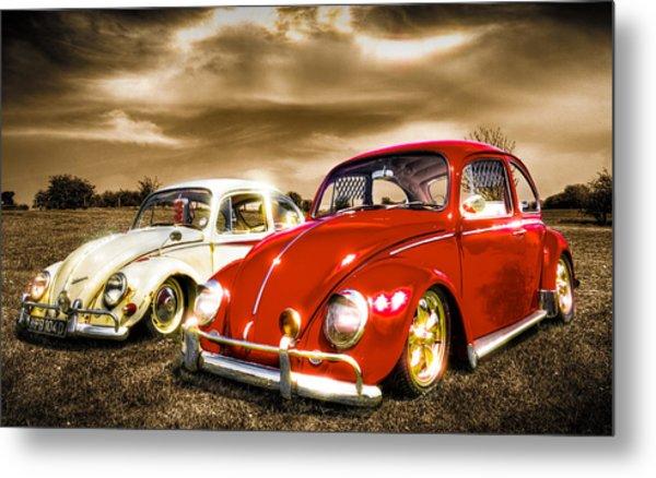 Classic Vw Beetles Metal Print