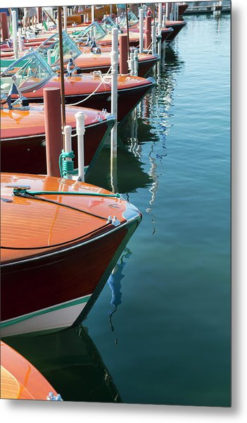 Classic Wooden Boats Metal Print by Jenniferphotographyimaging