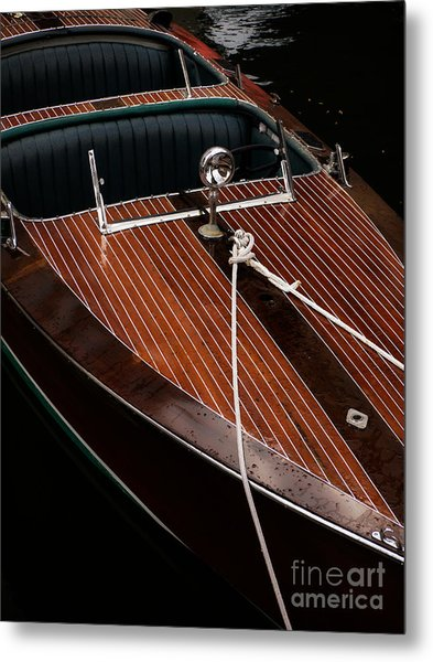 Classic Wooden Power Boat Metal Print