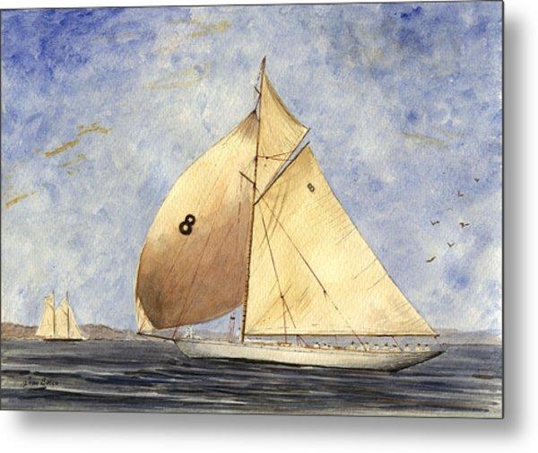Classic Yacht Barcelona Metal Print