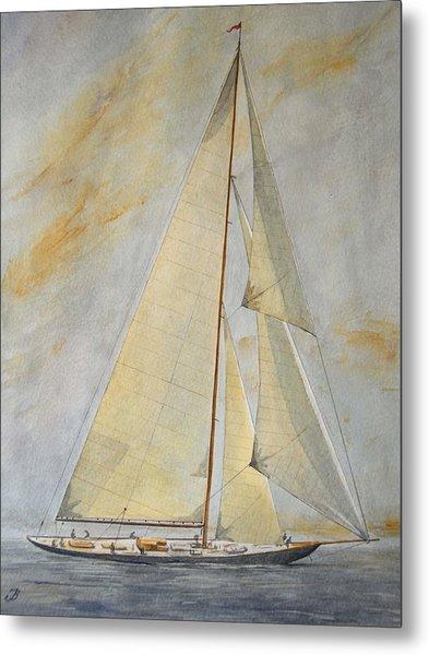 Classic Yacht Metal Print