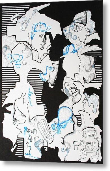 Classmates Metal Print by Zuzana Vass