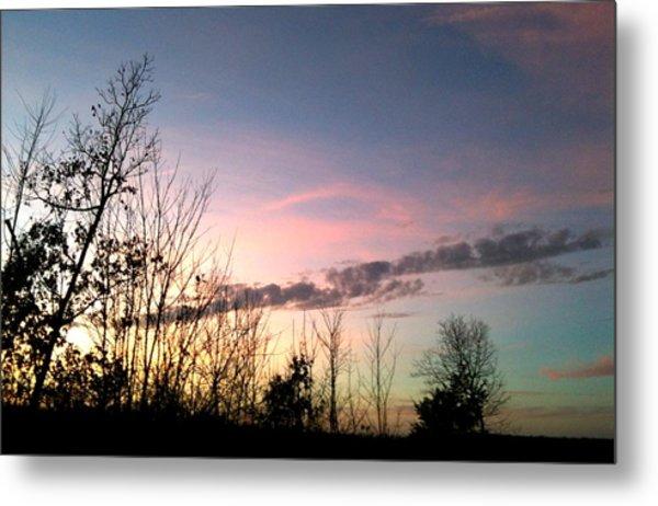 Clear Evening Sky Metal Print