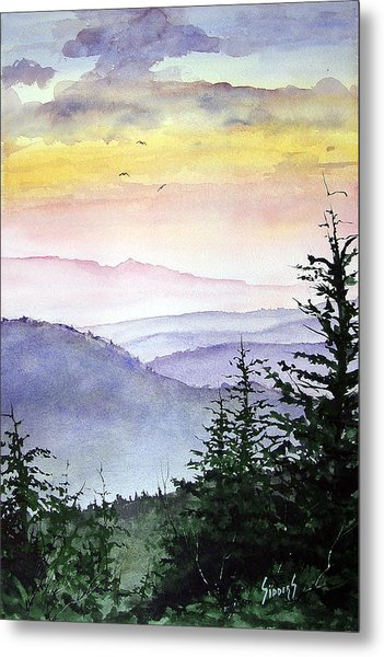 Clear Mountain Morning II Metal Print