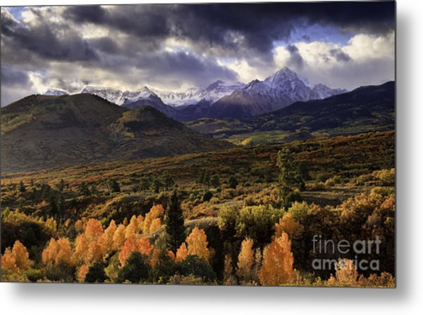 Clearing Storm The Sneffels Range Metal Print