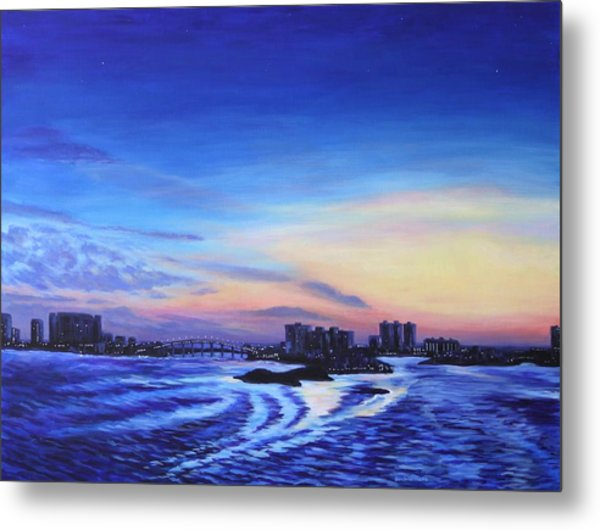 Clearwater Beach Sunset Metal Print