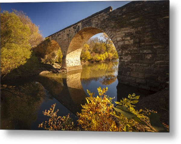 Clements Stone Arch Bridge Metal Print