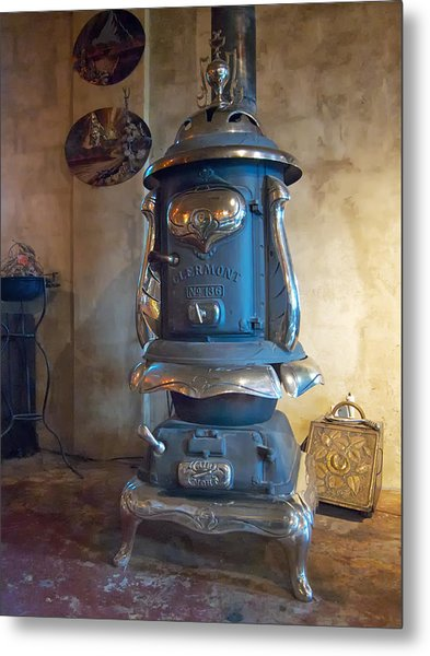 Metal Print featuring the photograph Clermont No 136 Pot Belly Stove by Mary Lee Dereske