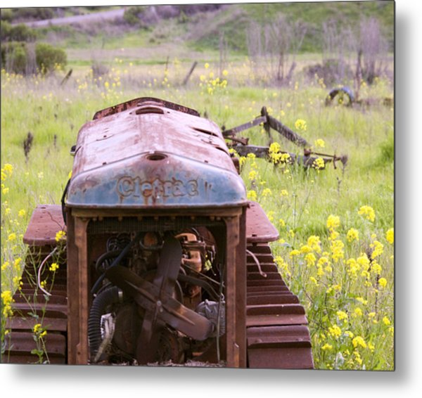 Cletrac Tractor In Fairfield Metal Print