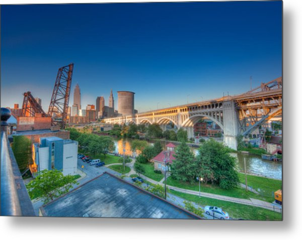 Cleveland Abstract Hdr Metal Print